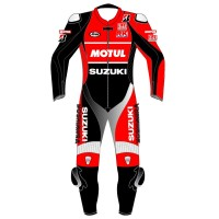 SUZUKI MOTUL SBK Race Replica Livery Motorcycle Leather Suit